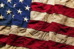 Stary flaga amerykańskiej tło Zdjęcia Stock
