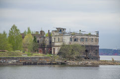 Stary fort Kronshlot w Kronstadt Rosja Zdjęcia Royalty Free