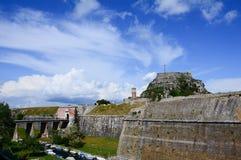 Stary forteca, Corfu, Grecja Fotografia Royalty Free