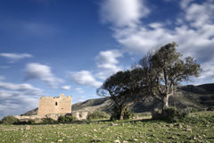Stary forteca Los Alumbres w Rodalquilar, Hiszpania Obrazy Stock