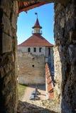 Stary forteca na rzecznym Dniester w grodzkiej gięciarce, Transnistria Miasto wśród granic Moldova kontrolny unrecogni Zdjęcie Stock