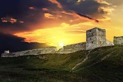 Stary forteca na wzgórzu obraz stock