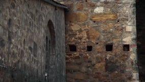 Stary forteca od wieków średnich, ściana zbiory