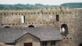 Stary forteca od wieków średnich korytarza Below i domu, zdjęcie wideo