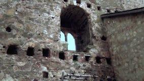 Stary forteca od wieków średnich okno zbiory wideo