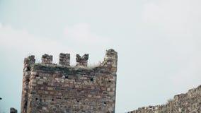 Stary forteca od wieków średnich, strażowy wierza zbiory