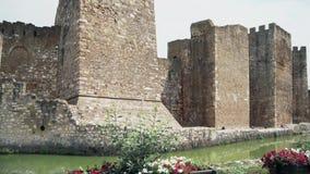 Stary forteca od wieków średnich, wielki mur zdjęcie wideo