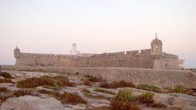 Stary forteca przy świtem Zdjęcie Stock