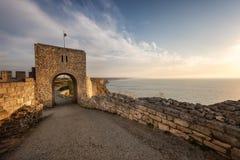 Stary forteca przy wschodem słońca Zdjęcie Stock