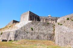 Stary forteca w Corfu miasteczku, Grecja Zdjęcie Royalty Free