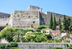 Stary forteca w Corfu miasteczku, Grecja Obraz Stock