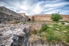 Stary forteca w grodzkim Bilhorod-Dnistrovski Zdjęcia Stock