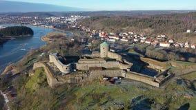 Stary forteca w Szwecja zbiory wideo
