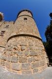 Stary fortecy wierza w Rhodes Zdjęcia Royalty Free