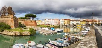 Stary Forteczny Fortezza Nuova Livorno, Włochy Zdjęcia Royalty Free
