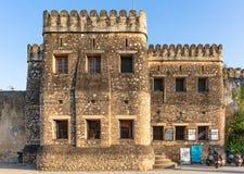 Stary fortu Ngome Kongwe kamie? Grodzki Unguja Zanzibar Tanzania zdjęcia royalty free