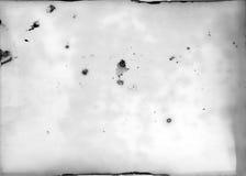 Stary fotograficzny papier - brud i plamy obrazy stock