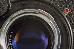 Stary fotografii kamery obiektyw zdjęcie stock