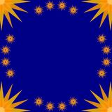 Stary Frame Blue Royalty Free Stock Photo
