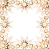 Stary Frame brown and gold Royalty Free Stock Image