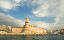 stary France port Marseille Fotografia Royalty Free