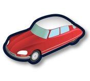 Stary Francja czerwieni samochód Obrazy Stock