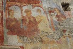 Stary fresk na ścianie St.Nicholas kościół, Demre Zdjęcia Stock