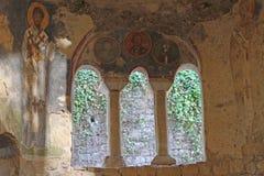 Stary fresk na ścianie St Nicholas kościół, Demre Obraz Stock
