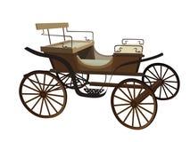 Stary furgon dla koni pojedynczy białe tło Fotografia Royalty Free
