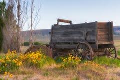 Stary furgon na Dallas rancho w Kolumbia wzgórzy stanu parku Obrazy Royalty Free