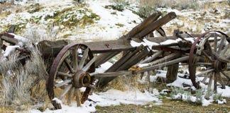 Stary furgon w zimie Fotografia Stock