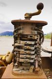 Stary górniczy wyposażenie w Yukon, Kanada zdjęcie royalty free