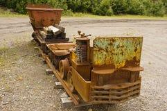 Stary górniczy wyposażenie w Yukon, Kanada obrazy royalty free
