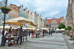 stary Gdansk miasteczko Obraz Royalty Free
