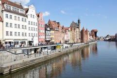 stary Gdansk miasteczko Polska fotografia royalty free
