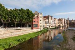 stary Girona miasteczko Spain Obraz Royalty Free