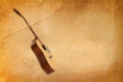 stary gitara papier Zdjęcia Stock