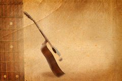 stary gitara papier Obraz Stock