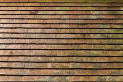 Stary gliniany dachowej płytki tło Obrazy Stock