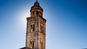 Stary Glock wierza w pięknym starym miasteczku Dubrovnik zdjęcie stock