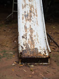 Stary gnicia żelaza suwak fotografia royalty free
