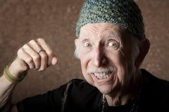 stary gniewny mężczyzna Obraz Stock