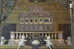 STARY GOA INDIA, Styczeń, - 06, 2012: Wnętrze bazylika Bom Jezus w Starym Goa który był kapitałem Goa, (Borea Jezuchi Bajilika) Obrazy Stock