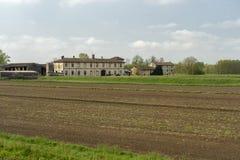 Stary gospodarstwo rolne blisko Pavia, Włochy obrazy royalty free