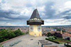 stary Graz zegarowy wierza Zdjęcia Stock