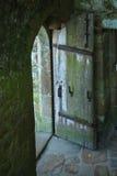 stary grodowy drzwiowy France otwiera zdjęcia stock