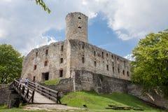Stary grodowy Lipowiec Kasztel w Babice wiosce Ruiny Krakow bishopsv kasztel Fotografia Stock
