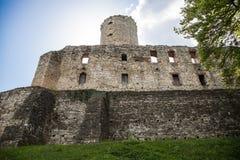 Stary grodowy Lipowiec Kasztel w Babice wiosce Ruiny Krakow bishopsv kasztel Zdjęcie Royalty Free