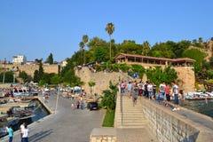 Stary grodzki Antalia portu widok Zdjęcie Stock