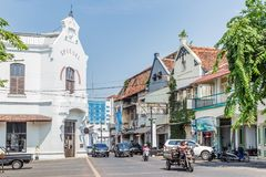 Stary grodzki centrum Semarang, Zachodni Jawa, Indonezja fotografia stock